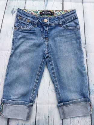 Mini Boden cropped turn up jeans age 5 (fits age 4-5)